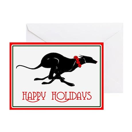Greyhound Happy Holidays Cards (Pk of 20)