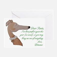 Greyhound Princess Holiday Card (single)