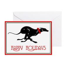 Greyhound Happy Holidays Card (single)