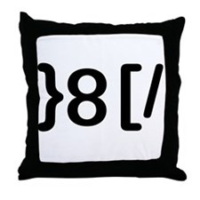 GROUCHOticon Throw Pillow