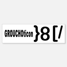 GROUCHOticon Bumper Bumper Bumper Sticker