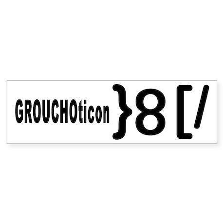 GROUCHOticon Bumper Sticker