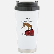 Greyhound Heart Stainless Steel Travel Mug