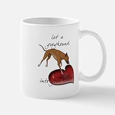 Greyhound Heart Mug
