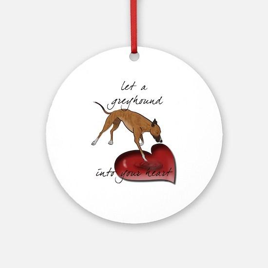 Greyhound Heart Ornament (Round)