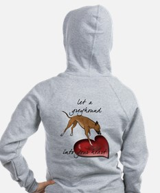 Greyhound Heart Zip Hoodie