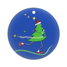 Christmas Tree Runner Ornament (Round)