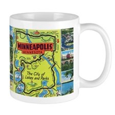 1940's City of Lakes and Parks Mug