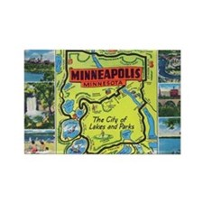 1940's City of Lakes and Parks Rectangle Magnet