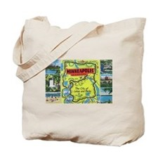 1940's City of Lakes and Parks Tote Bag