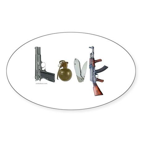 SECOND AMENDMENT Oval Sticker