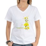 Floral Euphoria Women's V-Neck T-Shirt