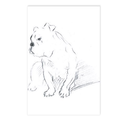 Bulldog Postcards (Package of 8)