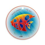 Peace (Fish) under The Sea Ornament (Round)