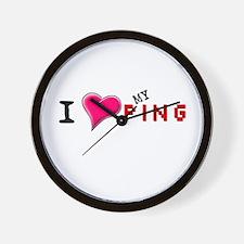 I Love (<3) My Ping Wall Clock