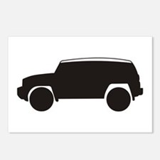 FJ Cruiser Outline Postcards (Package of 8)
