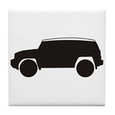 FJ Cruiser Outline Tile Coaster