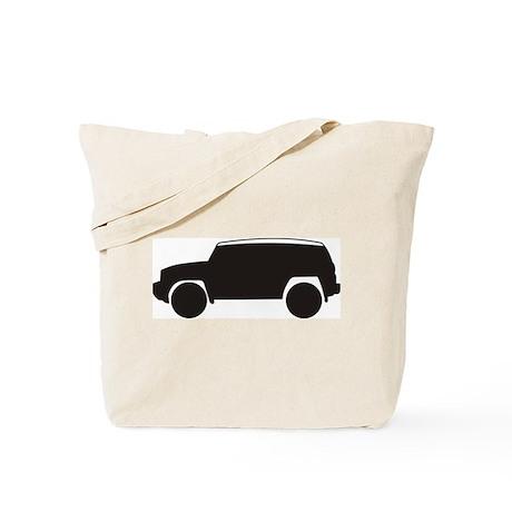 FJ Cruiser Outline Tote Bag