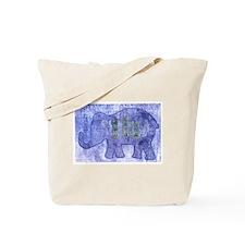 Funny Blue elephant Tote Bag