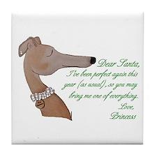 Greyhound Princess Art Tile