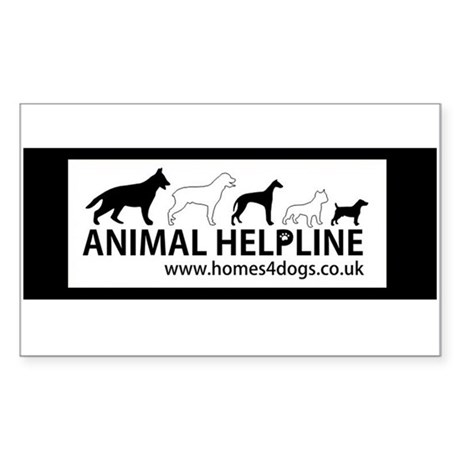 Animal Helpline Rectangle Sticker 50 pk)