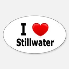 I Love Stillwater Oval Decal