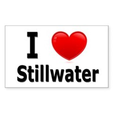 I Love Stillwater Rectangle Decal