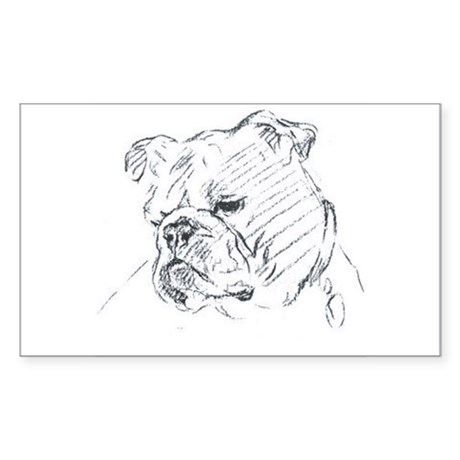 Bulldog Rectangle Sticker