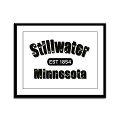 Stillwater Established 1854 Framed Panel Print