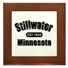 Stillwater Established 1854 Framed Tile