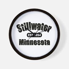 Stillwater Established 1854 Wall Clock