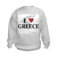 I Love Greece Sweatshirt