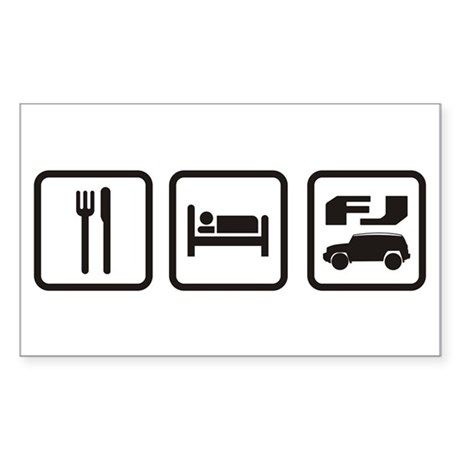 Eat sleep FJ! Rectangle Sticker