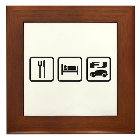Eat sleep FJ! Framed Tile
