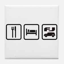 Eat sleep FJ! Tile Coaster