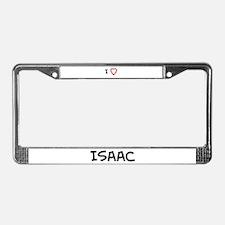 I Love Issac License Plate Frame