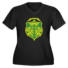 Unique Mauricio Women's Plus Size V-Neck Dark T-Shirt
