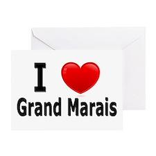 I Love Grand Marais Greeting Card
