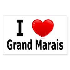 I Love Grand Marais Rectangle Decal