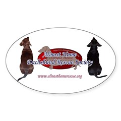 3 Dog AHDRS Logo Oval Sticker (50 pk)