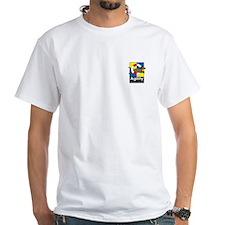 Agility For Fun For Life White T (pocket logo)
