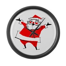 Happy Santa Large Wall Clock
