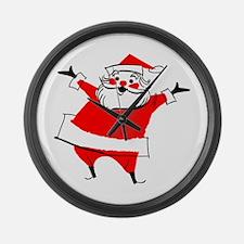 Happy Santa Large Wall Clock