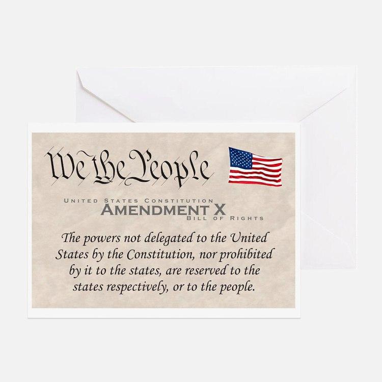 Amendment X Greeting Card