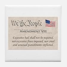 Amendment VIII Tile Coaster