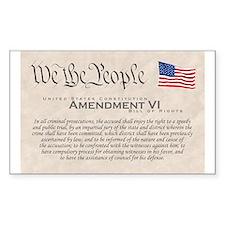 Amendment VI Rectangle Decal