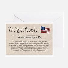 Amendment IV Greeting Card
