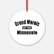 Grand Marais Established 1903 Ornament (Round)