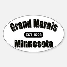 Grand Marais Established 1903 Oval Decal