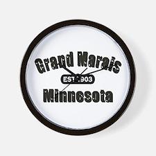 Grand Marais Established 1903 Wall Clock